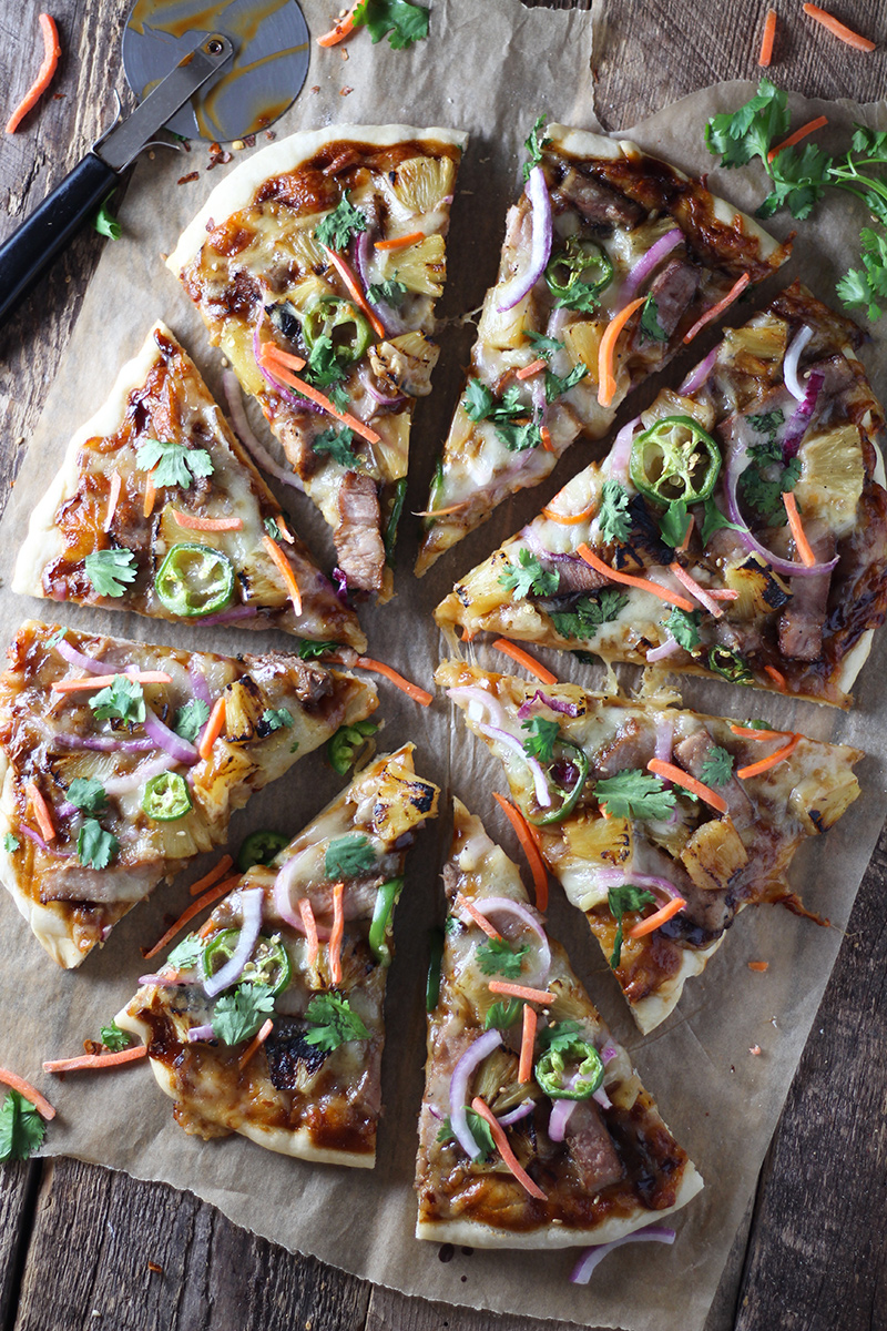 Hawaiian Pork Chop Pizza