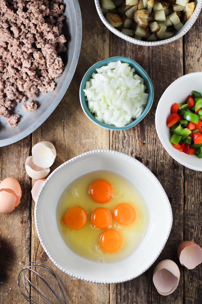 ingredients for breakfast casserole