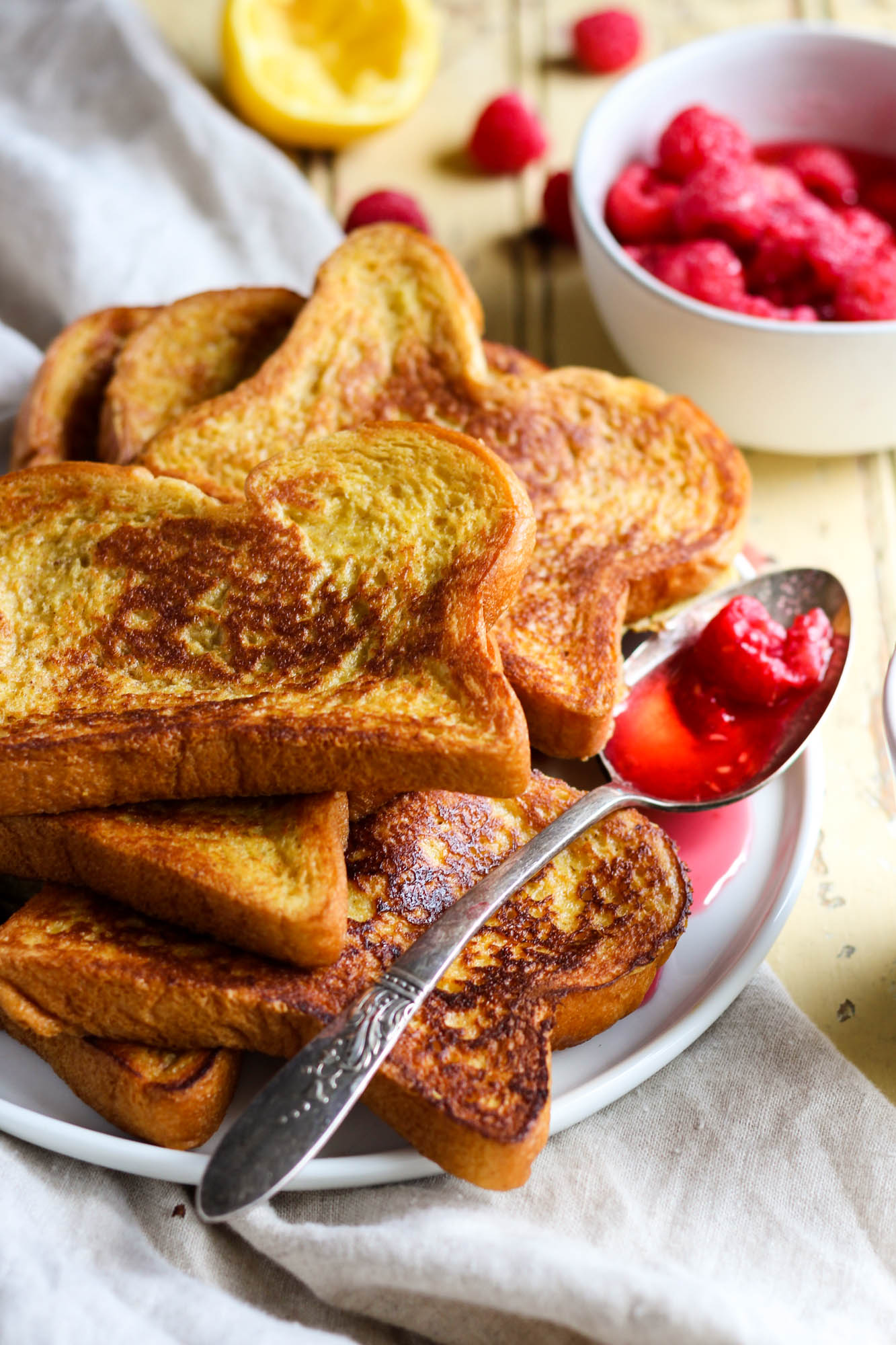 Freshly cooked cinnamon french toast