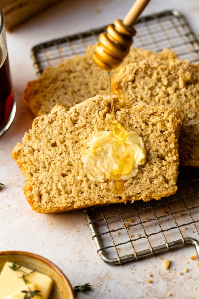 The most buttery, soft, and flavorful bread that is made with only 6 simple ingredients that you likely already have in your home, including a bottle of beer and a whole stick of butter. All you need is 10 minutes to prepare the bread, then bake till the top is golden brown. No rising or yeast needed!