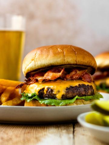 Crazy good burgers! Insanely juicy and flavorful burgers that are dripping with butter, smothered in melty cheese, and tucked between buttery, toasted buns.