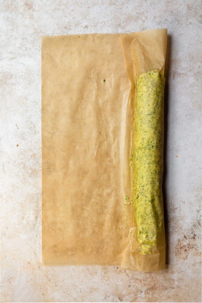 how to roll a butter log