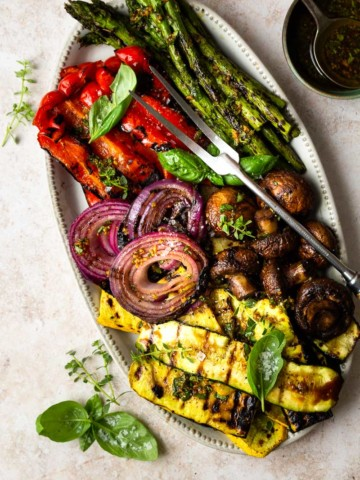 grilled marinated vegetables