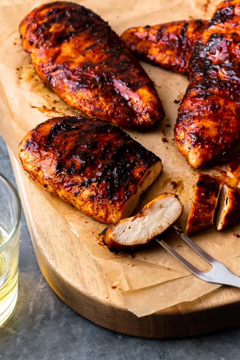 sliced grilled chicken
