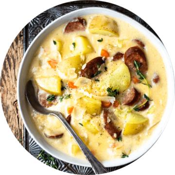 potato and smoked sausage soup