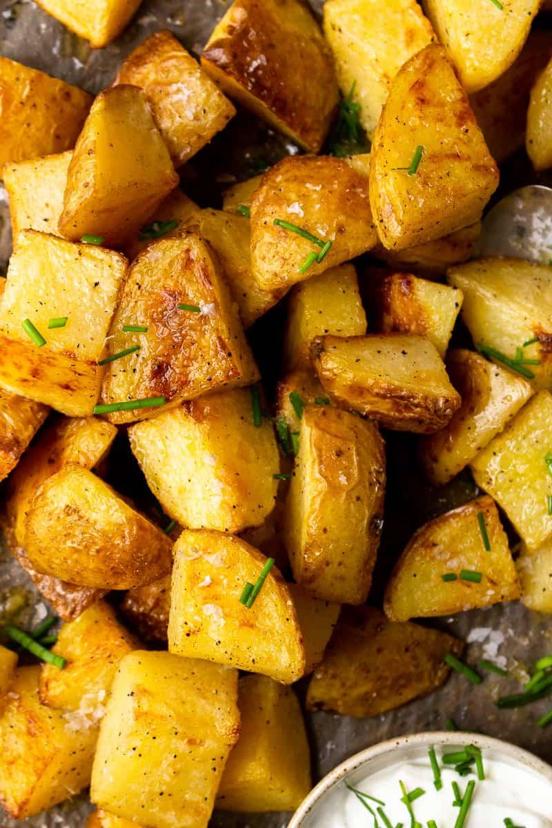 crispy salt and vinegar roasted potatoes