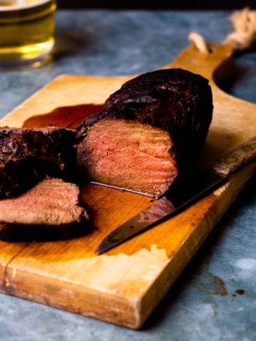 sliced venison backstrap