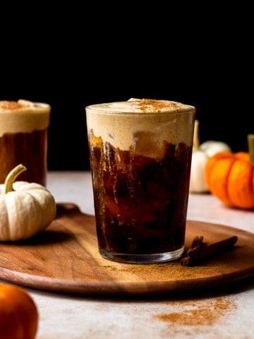 pumpkin cream cold foam cold brew coffee